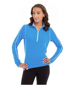 Olivia 1/4 Zip Light Jacket-XS-Blue