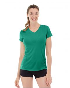 Gabrielle Micro Sleeve Top-L-Green