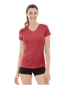 Gabrielle Micro Sleeve Top-M-Red