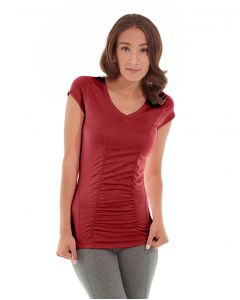 Iris Workout Top-XS-Red