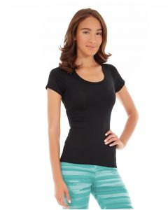 Desiree Fitness Tee-L-Black
