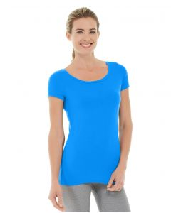 Tiffany Fitness Tee-XL-Blue