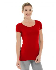 Tiffany Fitness Tee-L-Red